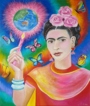 painting of Frida Kahlo